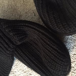 UGG Black Sweater Boots with Side Buttons Sz 3 us